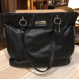 Coach Gallery Tote Black Leather
